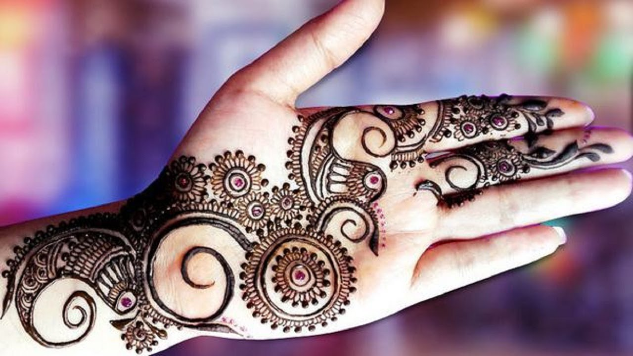Mehndi design 2017 eid - New Latest Simple Arabic Eid Mehndi Designs For Hands Indian Pakistani 2017 2018