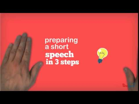 Preparing a one minute speech
