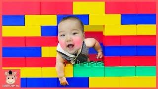 Johny Johny Yes Papa song Color Brick Block House Toy 블록 집 만들기 했어요! 블럭 장난감 놀이 | 말이야와아이들 MariAndKids