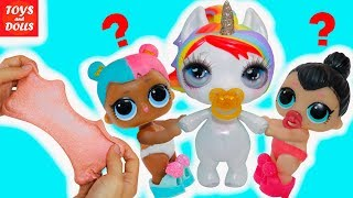 Ляльки лол Перчинка і Цукор Не Поділили Единорожку! Розпакування Пупси слайм! Мультик LOL Dolls