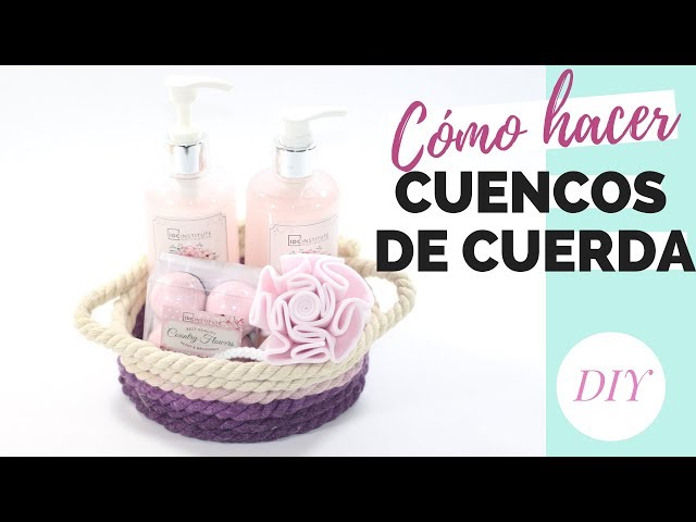 Cómo hacer CUENCOS DE CUERDA | DIY