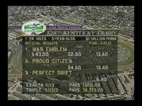 2002 Kentucky Derby - War Emblem : Broadcast