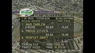2002 Kentucky Derby - War Emblem : Broadcast