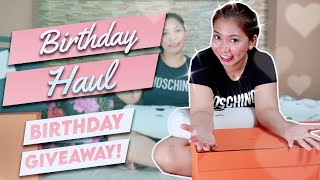 MY 34TH BIRTHDAY HAUL + GIVEAWAY | Anna Magkawas