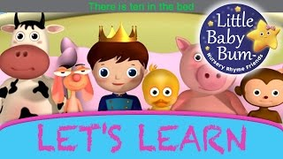 Learn with Little Baby Bum | Ten In The Bed | Nursery Rhymes for Babies | Songs for Kids