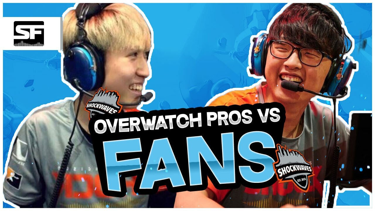 Overwatch League Pros vs Average Fans   How Good are Pros?   ChoiHyoBin and Viol2t