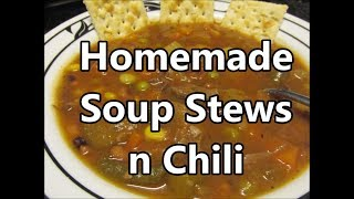 Soup Stew Chili and Sweet Cajun Desert's