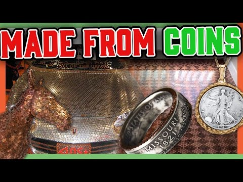 10 THINGS MADE FROM COINS - COIN KNIFE, COIN JEWELRY, AND MORE!!