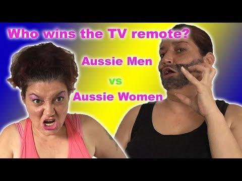Aussie Men vs Aussie Women- who wins the telly remote?