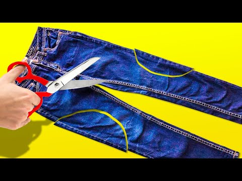JEANS IDEAS AND CRAFTS || RECYCLE AND REUSE DIYs