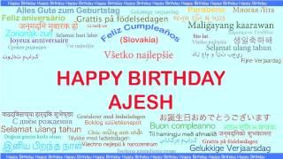 Ajesh   Languages Idiomas - Happy Birthday
