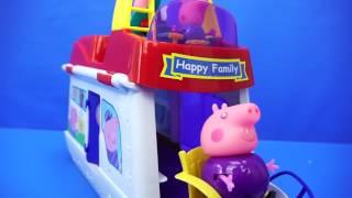 小猪佩奇 猪爷爷的度假船 玩具 粉红猪小妹