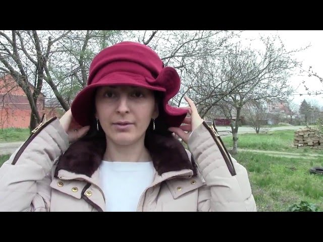 Шляпа, Кейлина Бордовая
