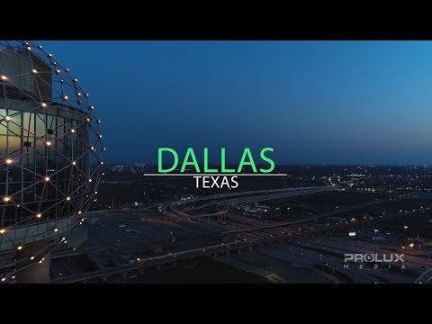 Dallas Texas Amazing Night Scenes Downtown 4K Footage