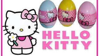 3 Hello Kitty Surprise Eggs| Unboxing! (Hello Kitty Toys)