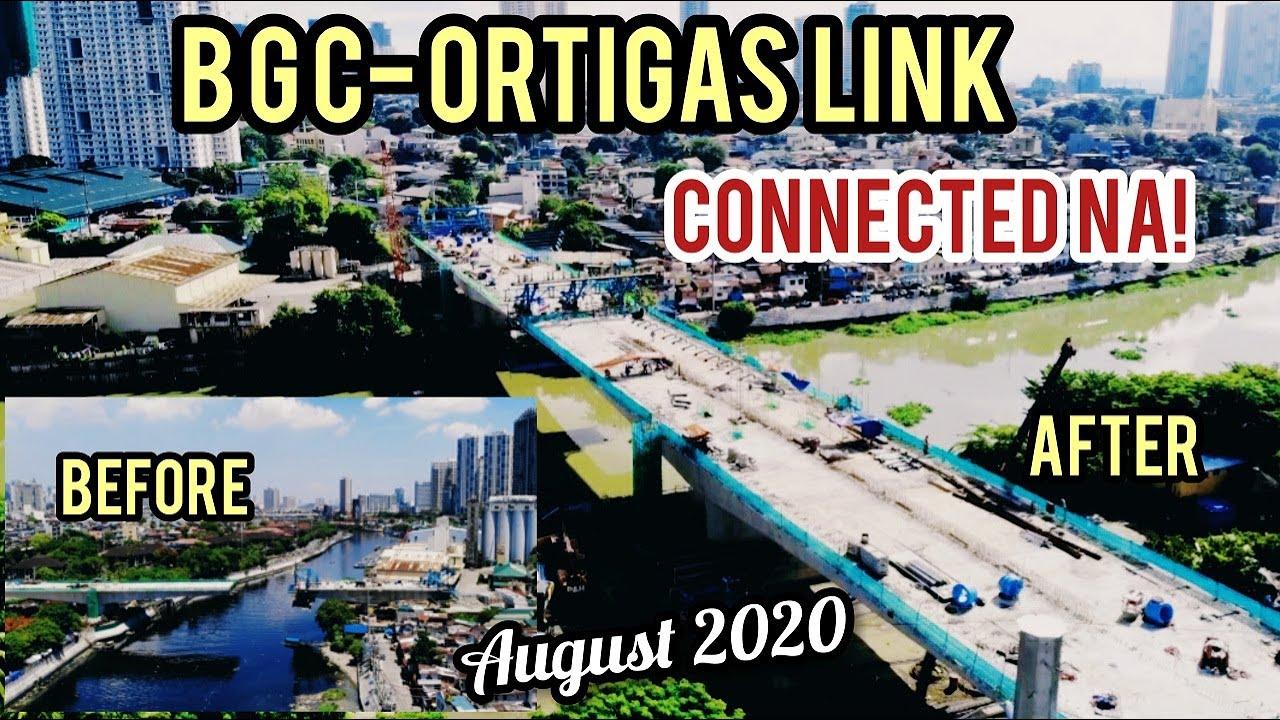 WOW! BGC-ORTIGAS BRIDGE UPDATE! KONEKTADO  NA! AUGUST 2020..SIGHTSEEING TOUR.