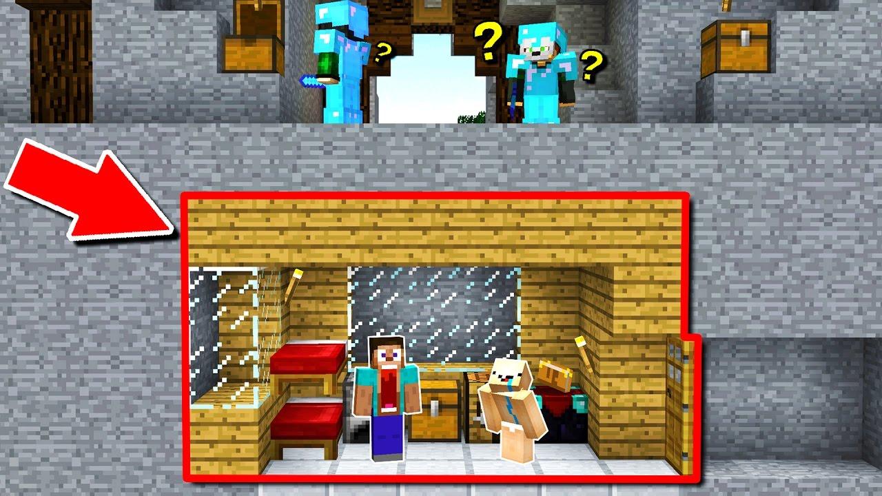 100  Hidden Minecraft Trap House   Minecraft Trolling