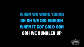 stubborn love in the style of the lumineers karaoke video with lyrics no lead vocal
