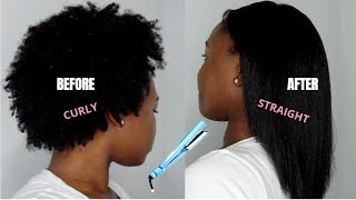 HOW TO: STRAIGHTEN 4C NATЏRAL HAIR