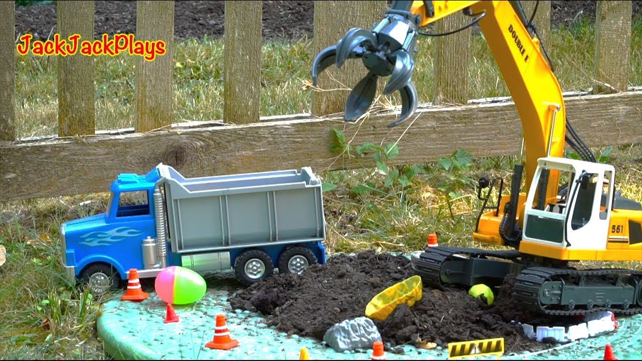 Excavator Toy Digging Foundation Construction Vehicles