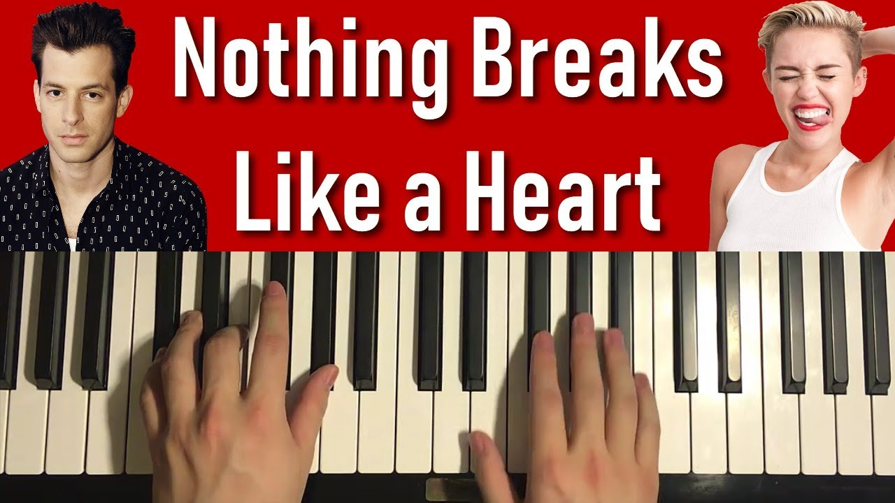 HOW TO PLAY - Mark Ronson ft. Miley Cyrus - Nothing Breaks Like a Heart (Piano Tutorial Lesson) image