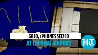 Watch: Gold & Apple gadgets worth Rs 1.88 crore seized at Chennai airport