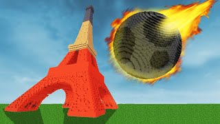 I destroyed the Eiffel Tower with the moon - Teardown