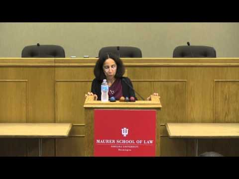 Prof. Reva Siegel, Yale Law School, delivered the Harris Lecture on Sept. 27.