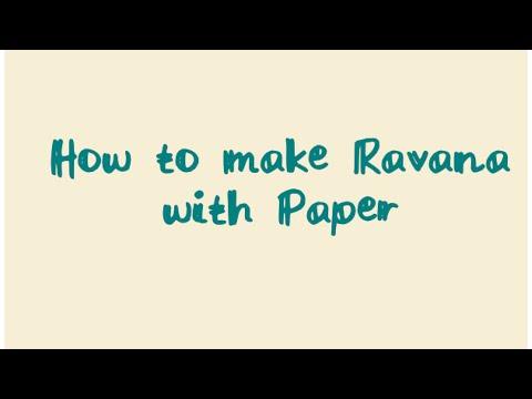 How to make Ravana for Kids...