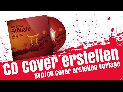 CD 3D Cover Erstellen mit Vorlage, DVD Cover Vorlage Mockup