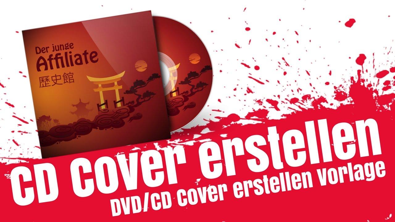 CD 3D Cover Erstellen mit Vorlage, DVD Cover Vorlage Mockup - YouTube
