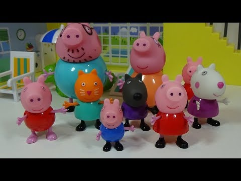 PEPPA PIG with Friends. We Transport and Open Surprise Eggs. Car For KIDS.