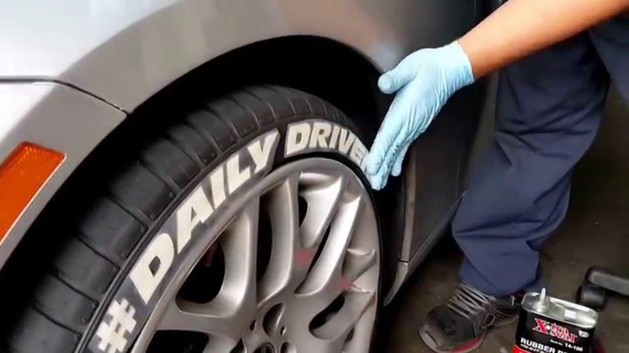 Freddie Bmw Gets Tire Stickers Youtube