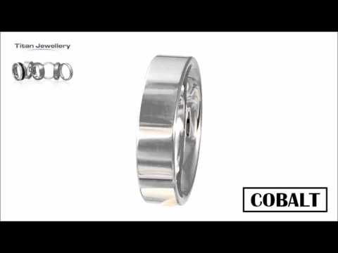 Men's 6mm Polished Flat Cobalt Wedding Ring