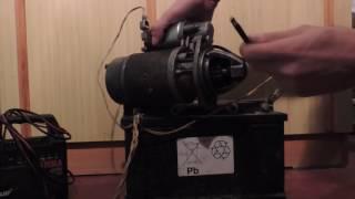 Как проверить стартер на прямую от аккумулятора  (замыкаем на прямую)