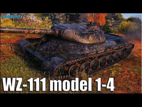 Технично 11 фрагов на WZ-111 model 1-4 ✅ World of Tanks лучший бой китайский тт 9 уровня