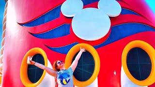 Travel Day, Embarkation and Sail Away Party! I Disney Cruise Line Vlog I Disney Magic I April 2018
