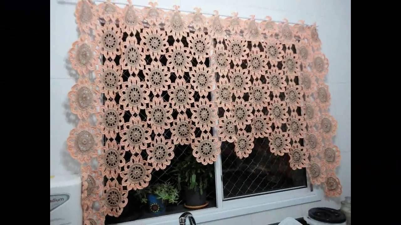 Cortinas y percianas tejidos a crochet con diferentes detalle n 02 youtube for Argollas con pinzas para cortinas