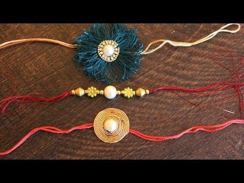 DIY- 3 Easy handmade Super Easy Rakhi Making For Kids School Competition.