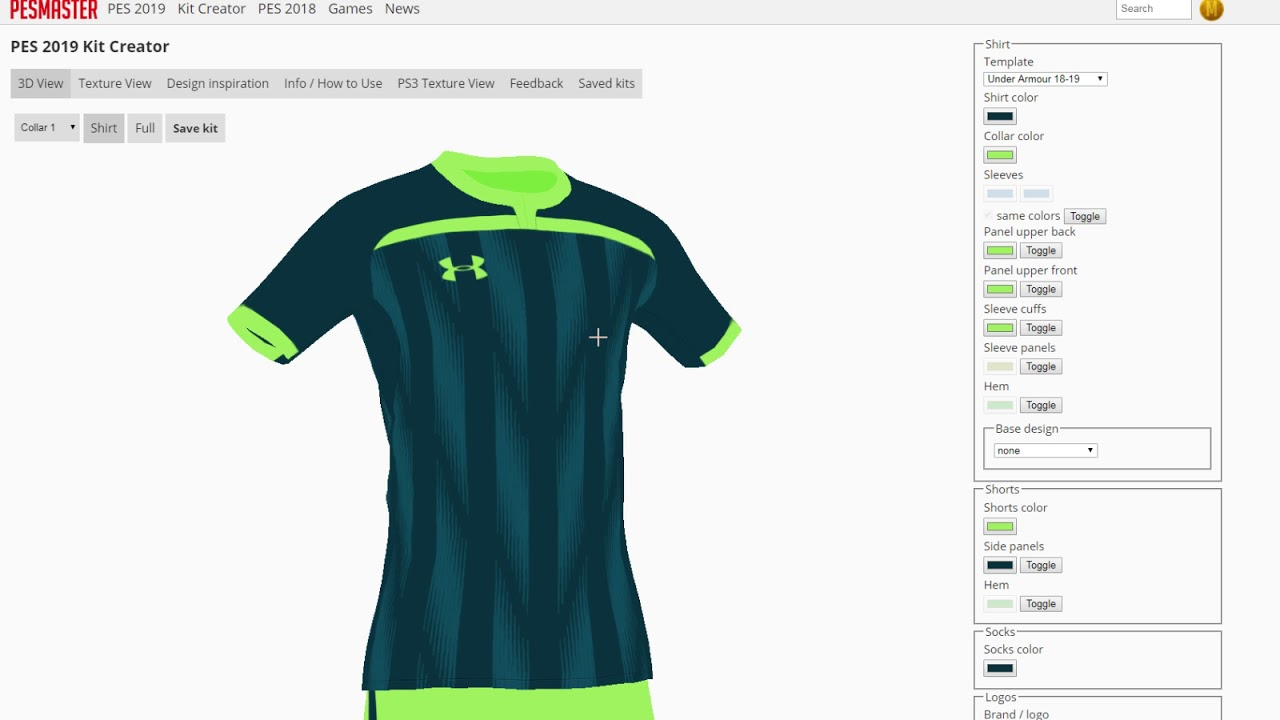 Design Inspiration - PES 2019 Kit Creator