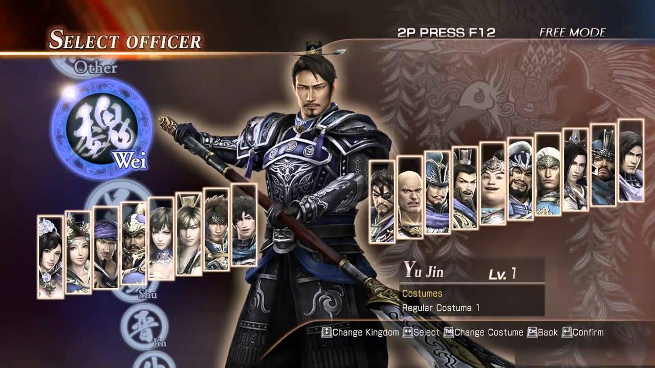 ตัวละคร+ชุดแต่งกาย  Dynasty Warriors 8