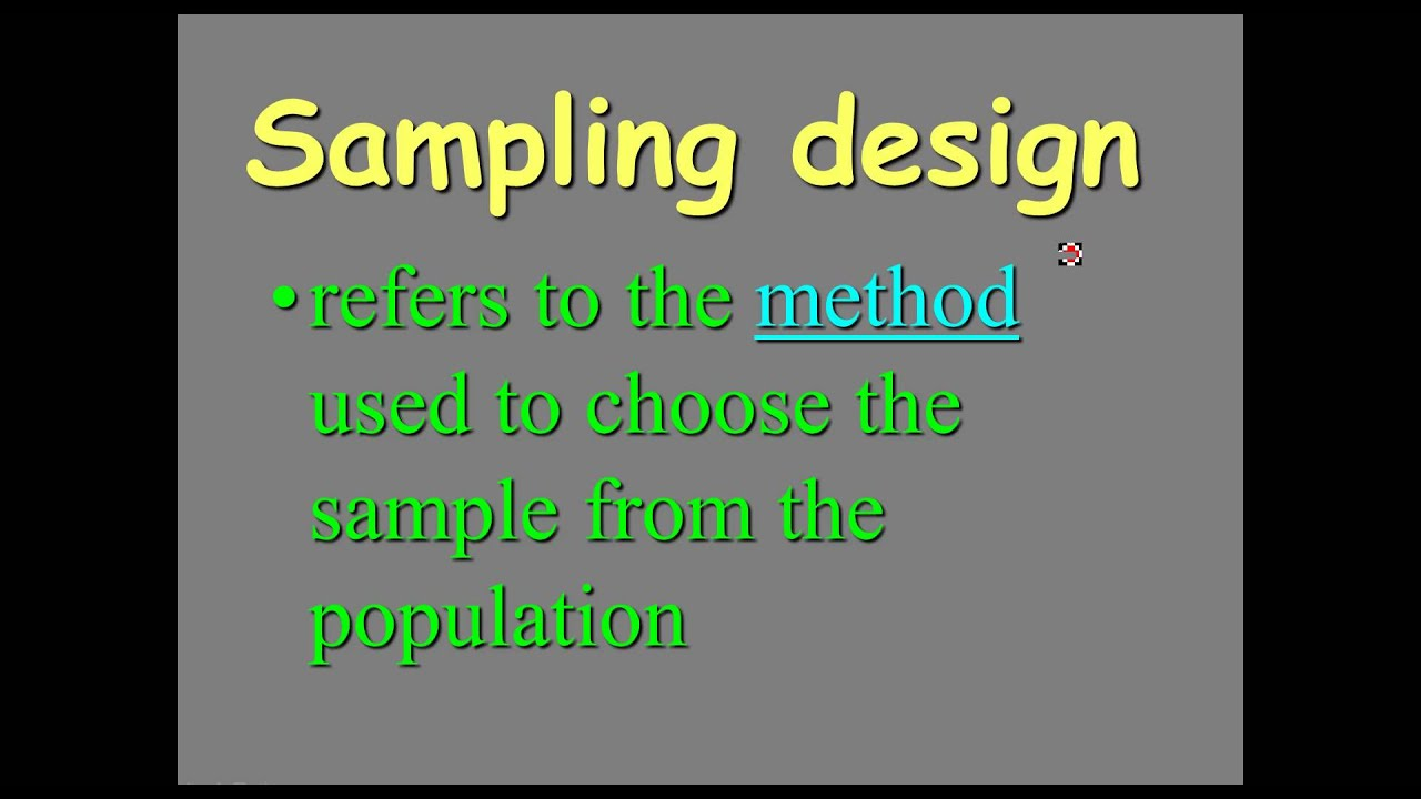 AP Statistics: Simple Random Sampling Design - YouTube