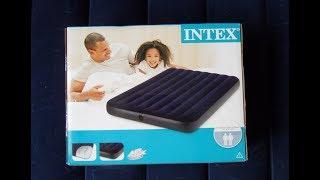 Обзор и распаковка надувного матраса INTEX 68758