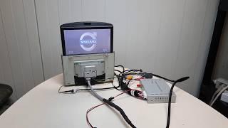 Volvo RTI monitor with universal navibox