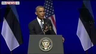 "President Obama: ""We Will Defend Our NATO Allies"""