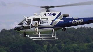 GIANT RC ECUREUILE AS350 MODEL VARIO ELECTRIC HELICOPTER FLIGHT DEMO FRANCIS PADUWAT