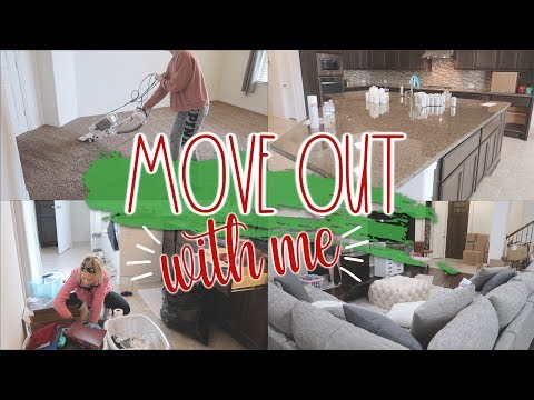 NEW! MOVE OUT & CLEAN WITH ME 2019::CLEANING MOTIVATION