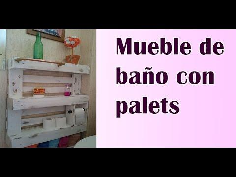 Mueble de baño hecho con palet - YouTube