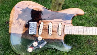 Making A Custom Strat With Epoxy and Olive Wood
