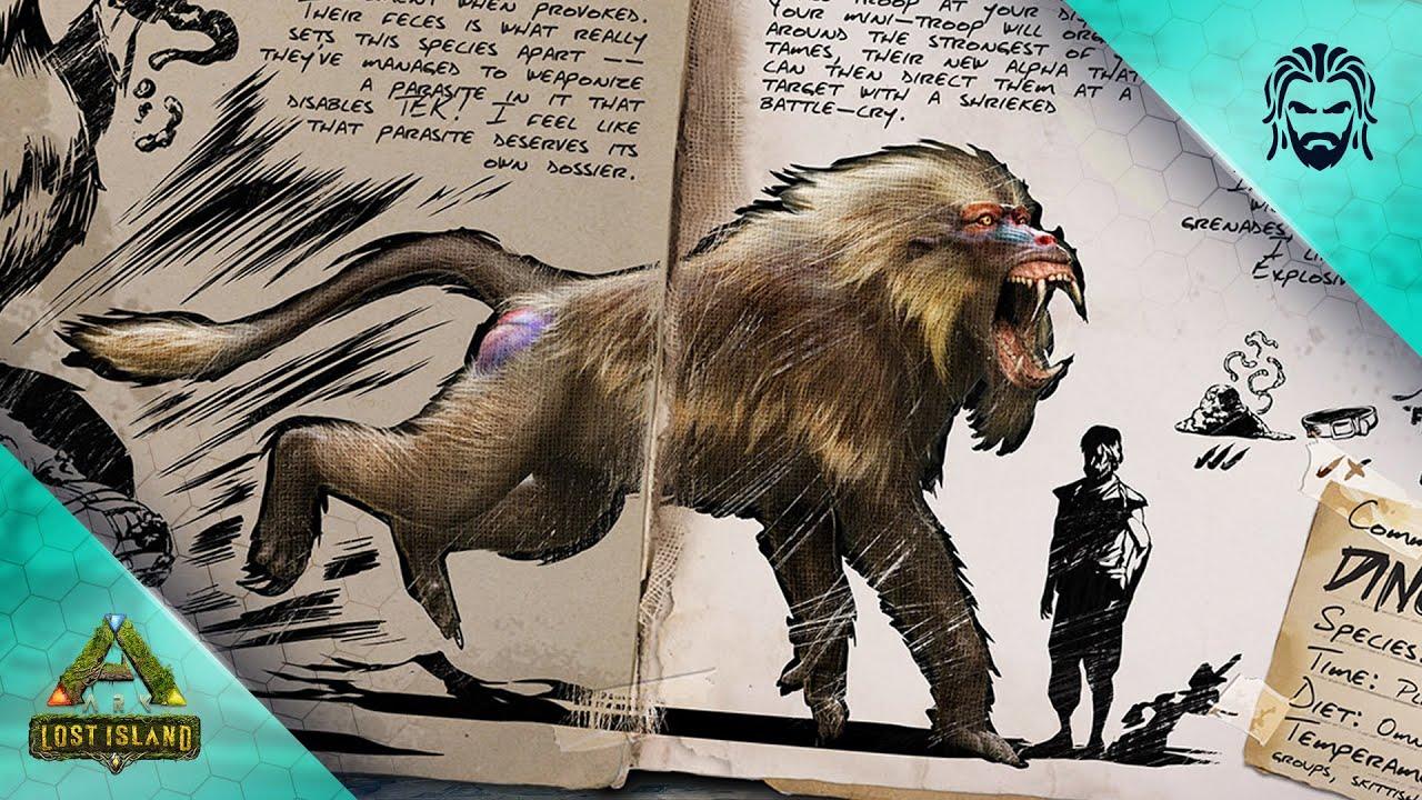 ARKs Next Creature Has Been Revealed! Dinopithecus Dossier Breakdown! - ARK Lost Island DLC